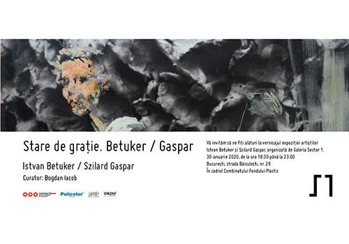 """""""Stare de grație. Betuker / Gaspar"""", la intersecția dintre pictură, sculptură și performance art"""