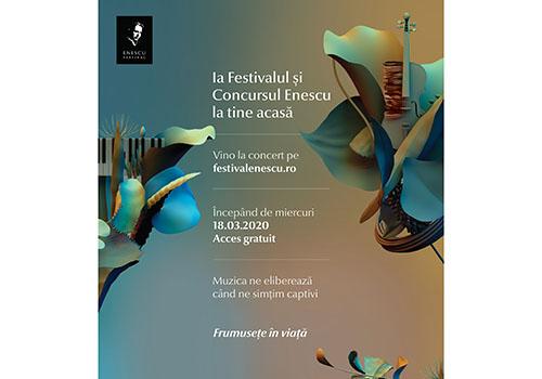 De astăzi, Festivalul Enescu îți intră în casă online