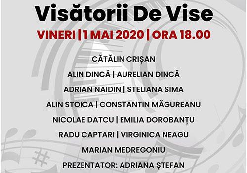"""Concert online, live de la Sala Palatului: """"Visătorii de vise"""""""