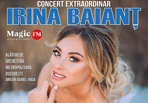 Unde cântă soprana Irina Baianț în ultima zi de august