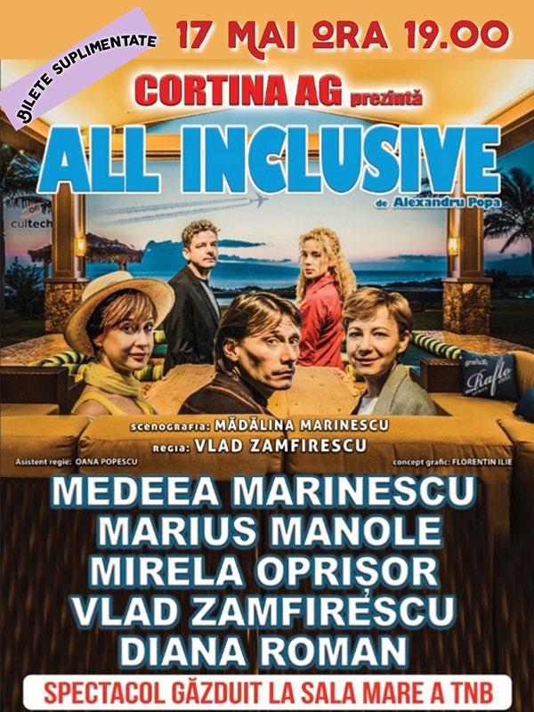 """""""All Inclusive"""" se joacă la TNB pe 17 mai. Ultimele bilete!"""