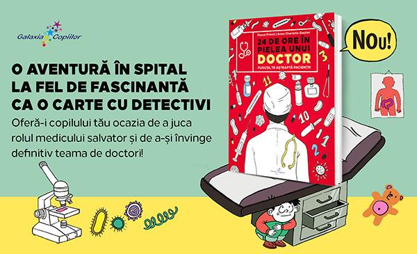 """""""24 de ore în pielea unui doctor"""", o carte care pune pe fugă frica de medici"""
