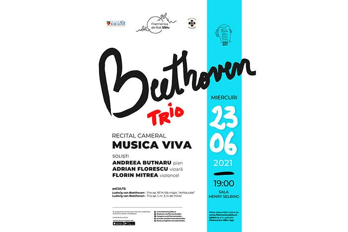 """Musica Viva, gata de concertul cameral """"Beethoven À TRÉ"""""""