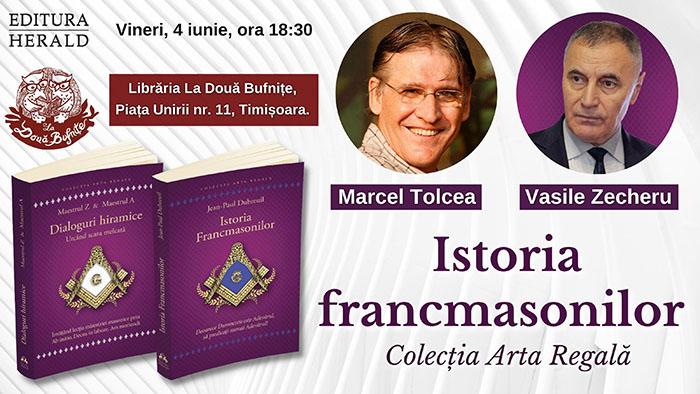 "Eveniment literar la Editura Herald: ""Istoria francmasoneriei"""