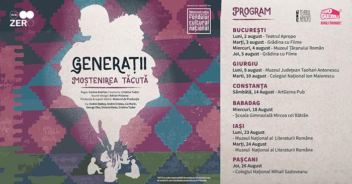 """""""Generații – Moștenirea tăcută"""", invitație la o călătorie printre amintiri"""