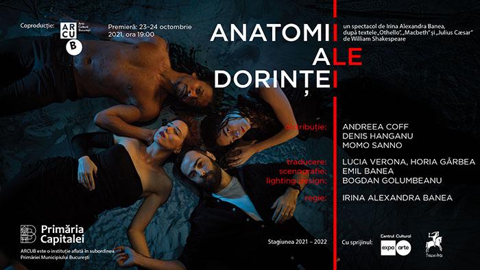 """Premieră la ARCUB: """"Anatomii ale dorinței"""""""